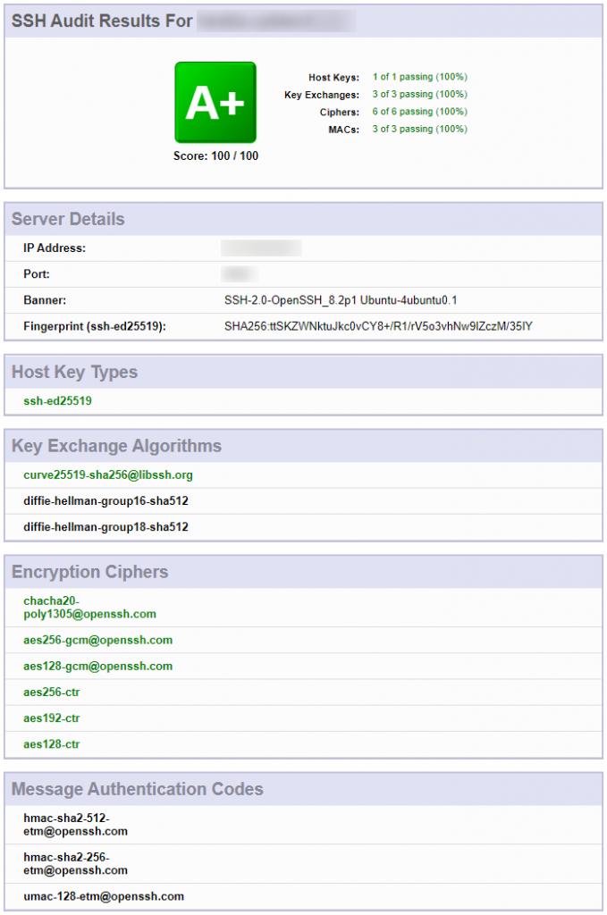 test securisation serveur SSH