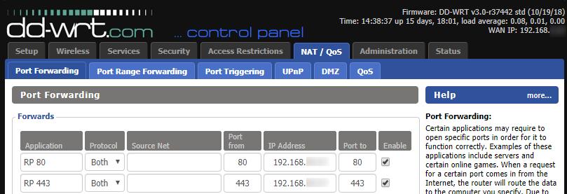 DD-WRT Port Forwarding